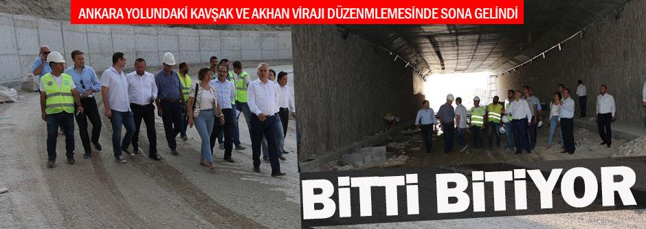 Ankara Yolu projelerinde sona doğru