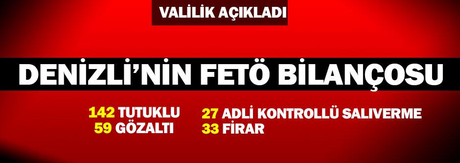 Denizli'de FETÖ'den 142 kişi tutuklandı
