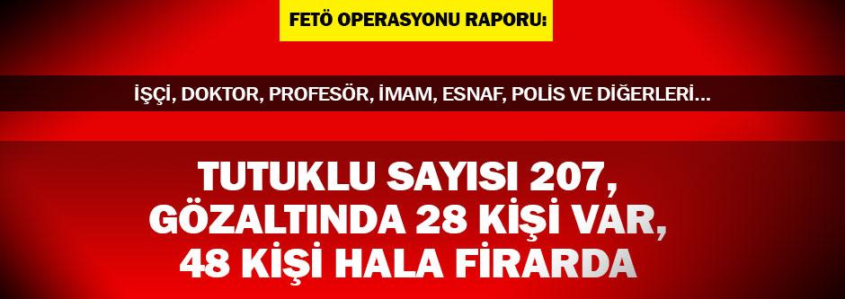 FETÖ'den tutuklananların sayısı 207 oldu