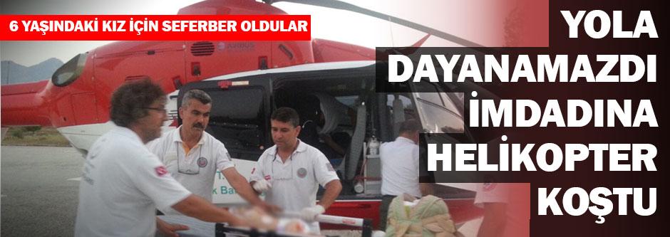 Helikopter ambulans, imdada koştu