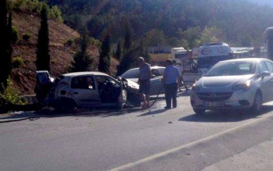 Şahintepesi'nde kaza: 2 yaralı