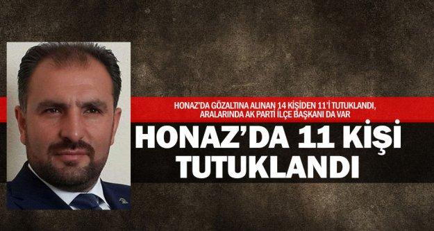 Ak Parti İlçe Başkanı dahil 11 tutuklama