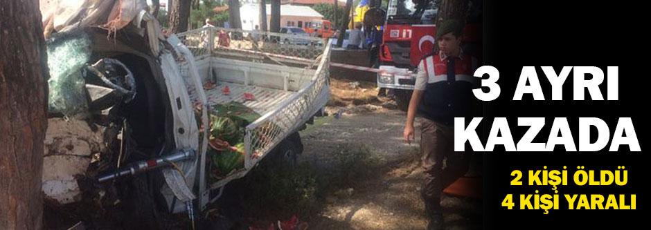 Bayram kazalarla başladı: 2 ölü
