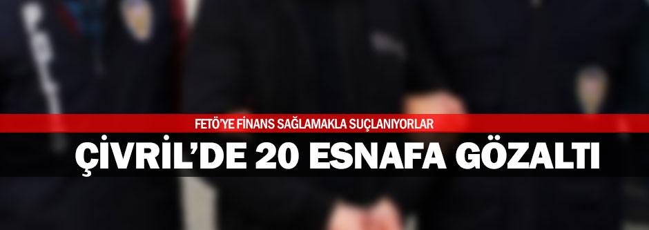 Çivril'de FETÖ'den 20 gözaltı