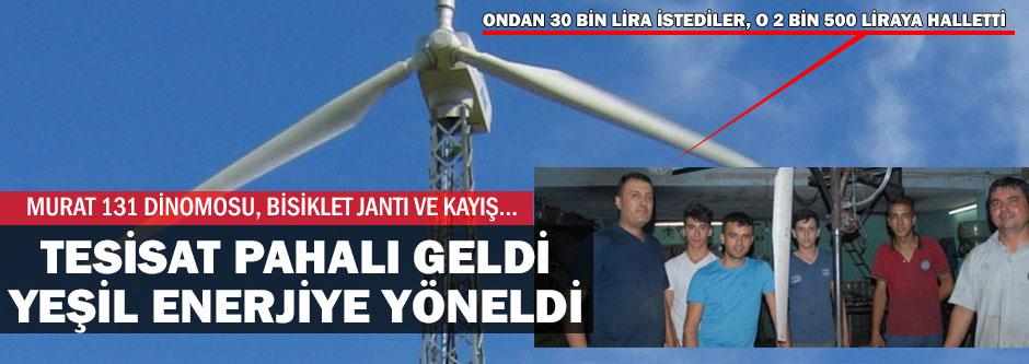 Ev yapımı yeşil enerji
