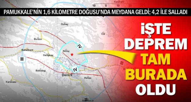 İşte depremin tam merkezi