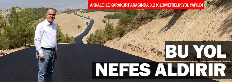 Kale-Karakurt arasına trafiği rahatlatacak yol