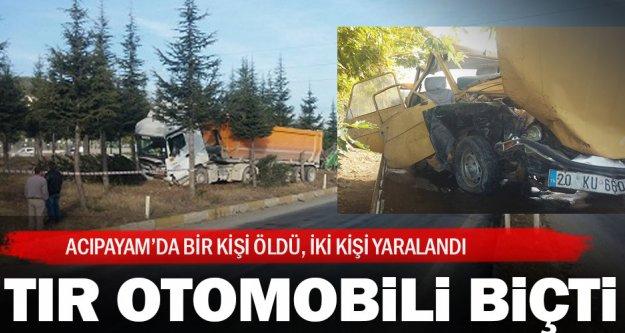 Acıpayam'daki kazada bir kişi öldü