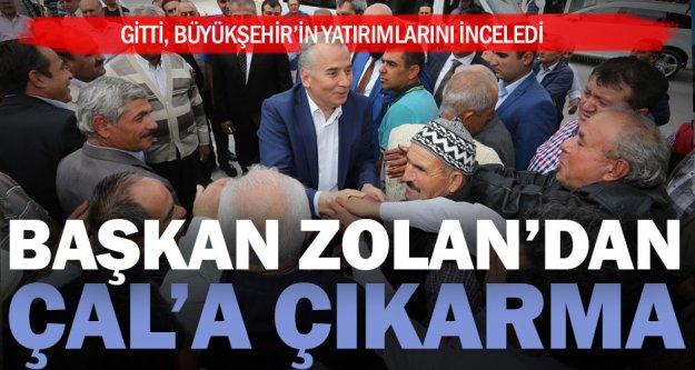 Başkan Zolan Çal'a çıkarma yaptı
