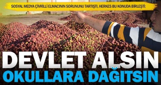 Çocuklar elma yesin, çiftçi ürün satsın