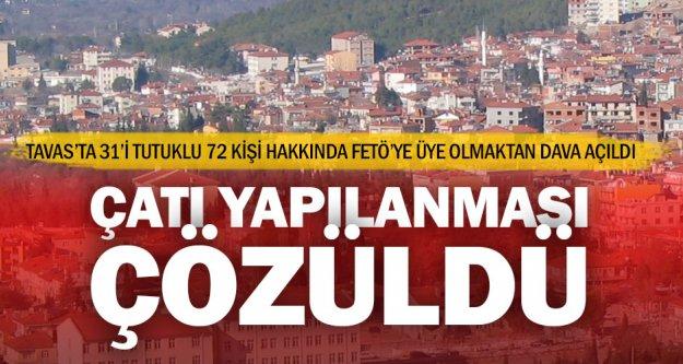 FETÖ'nün Tavas yapılanmasında 72 kişiye dava