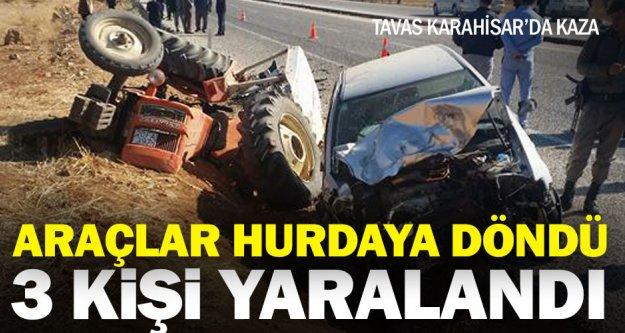 Karahisar'da kaza: 3 yaralı