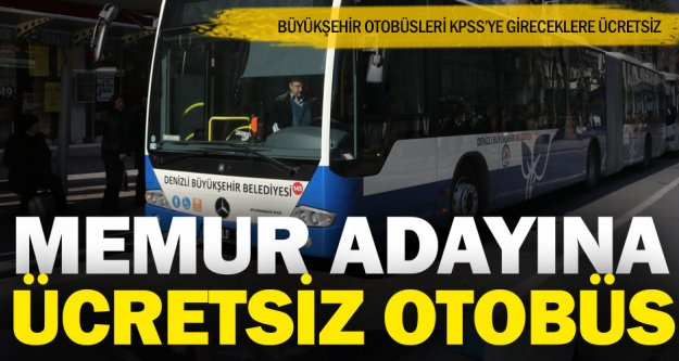 KPSS adaylarına ücretsiz otobüs