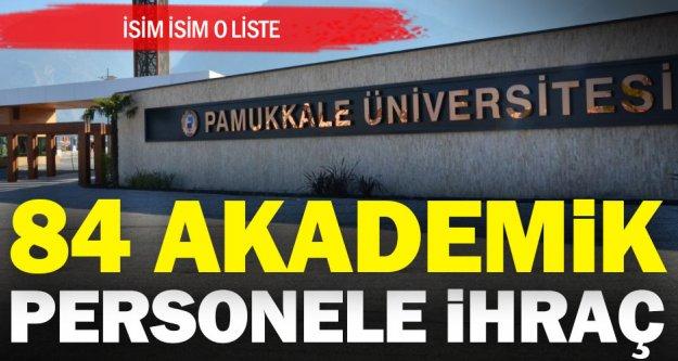 PAÜ'den 85 akademik personel ihraç edildi