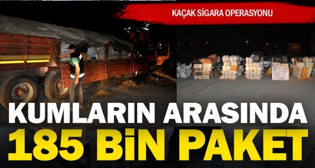 Polis 185 bin paket kaçak sigara ele geçirdi