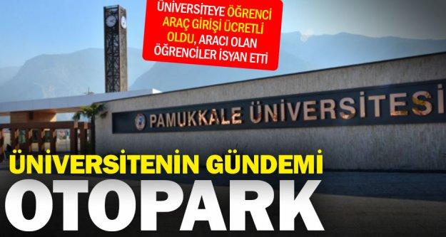 Üniversitede 'otopark' gündemi