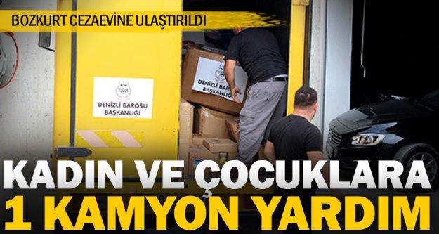 Bozkurt'taki kadın mahkumlara bir kamyon yardım