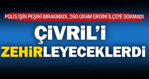 Çivril polisi 260 gram eroin yakaladı