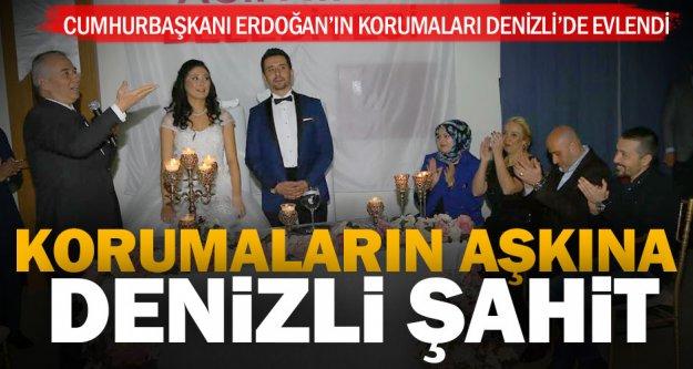 Cumhurbaşkanı Erdoğan'ın korumaları Denizli'de evlendi