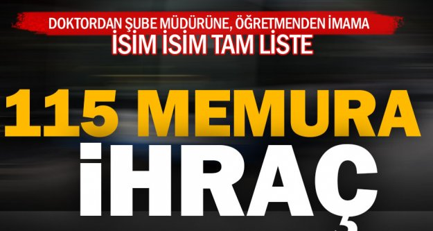 Denizli'de 115 memura ihraç
