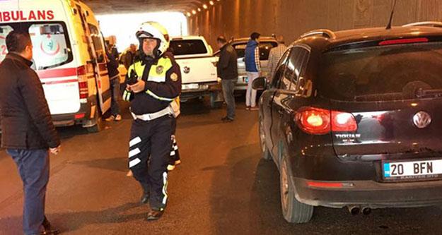 Fatih Köprülü kavşağında zincirleme kaza