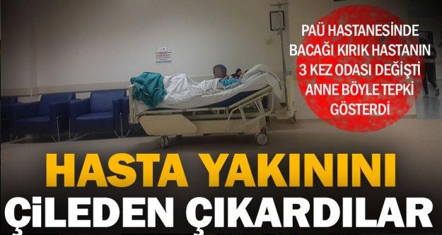 Hasta yakınının ilginç protestosu