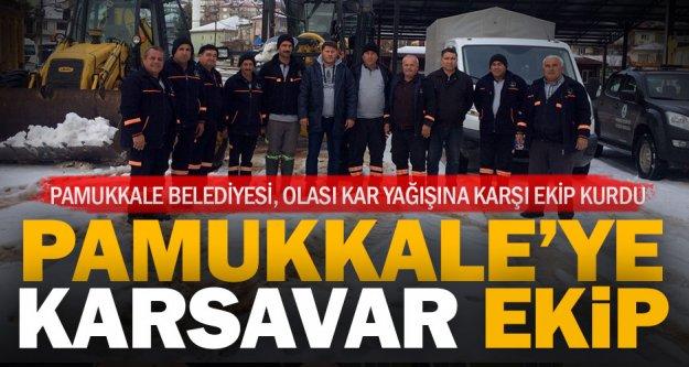 Pamukkale Belediyesi, kar planı hazırladı