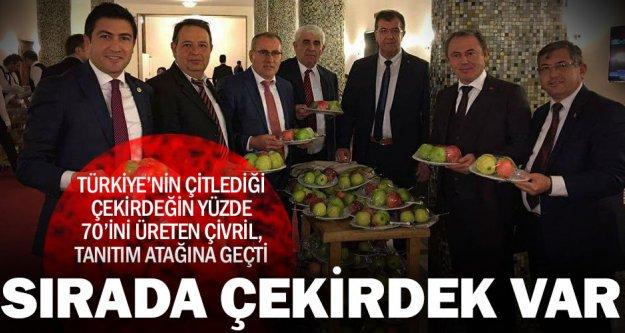 Meclis'te Çivril elması ve çekirdeği tanıtıldı