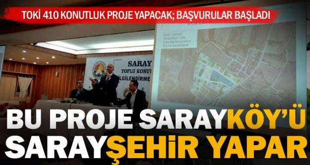 Sarayköy'e 410 konutluk TOKİ müjdesi