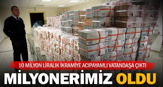 10 milyon lira Denizli'ye çıktı