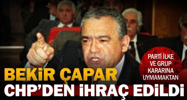 Bekir Çapar CHP'den ihraç edildi