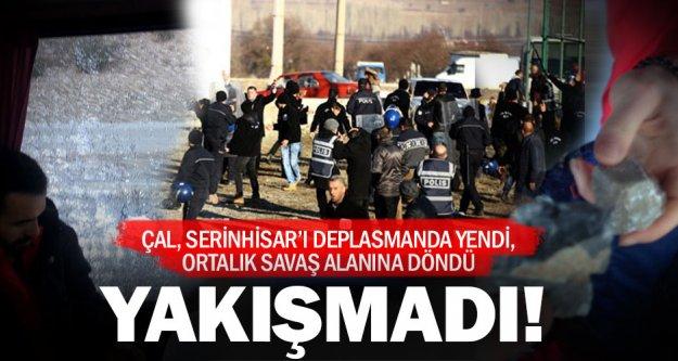 Çal Belediyespor'a Serinhisar'da saldırı