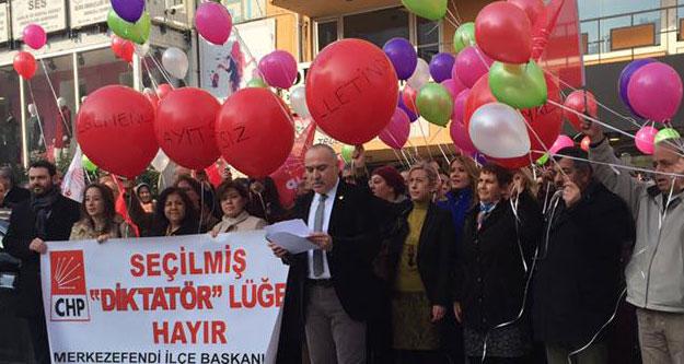 CHP'lilerden balonlu tepki