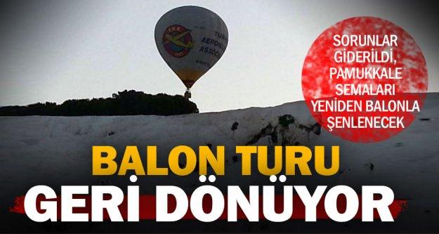 Pamukkale'de balon turları tekrar başlıyor