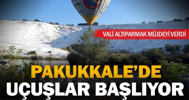 Pamukkale'de balon uçuşları başlıyor