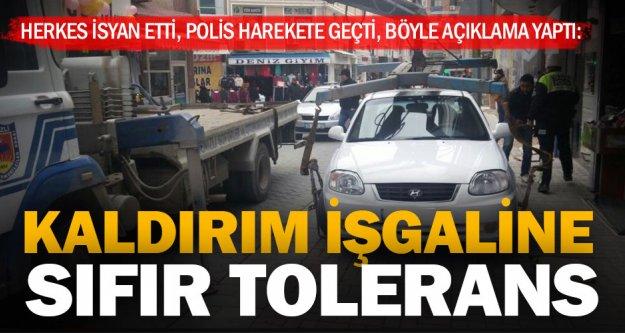 Polis, kaldırım işgaline savaş açtı