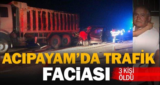 TIR'a arkadan çarpan otomobildeki üç kişi öldü