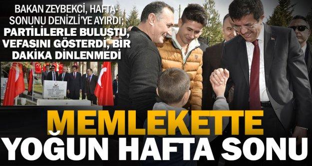 Bakan Zeybekci'nin yoğun hafta sonu ziyareti