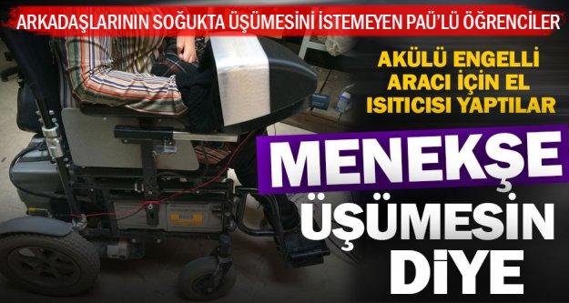 Tekerlekli sandalyeye el ısıtıcısı kolaylığı