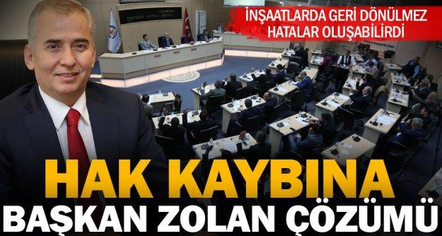 Başkan Zolan'dan yüzde 40 sorununa çözüm