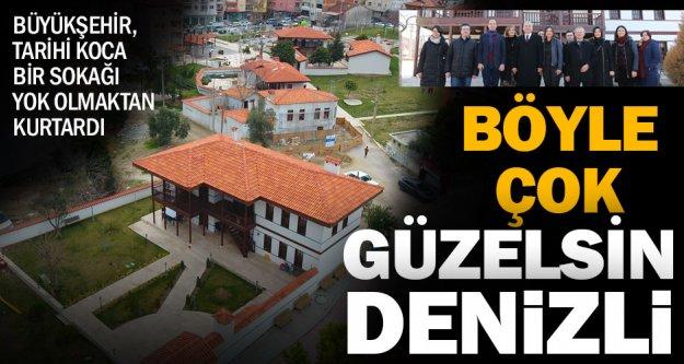 Büyükşehir ile tarihi sokak dokusu yaşatılıyor