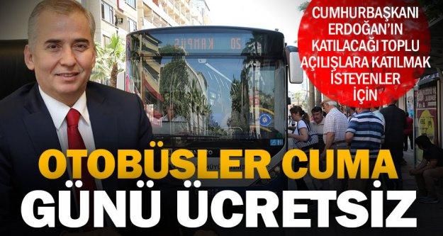 Büyükşehir otobüsleri Cuma günü ücretsiz