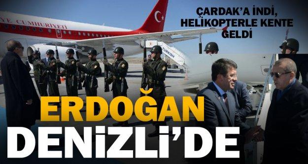 Cumhurbaşkanı Erdoğan Denizli'ye geldi