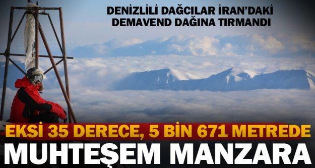 Denizlili dağcılar İran'da zirveye çıktı