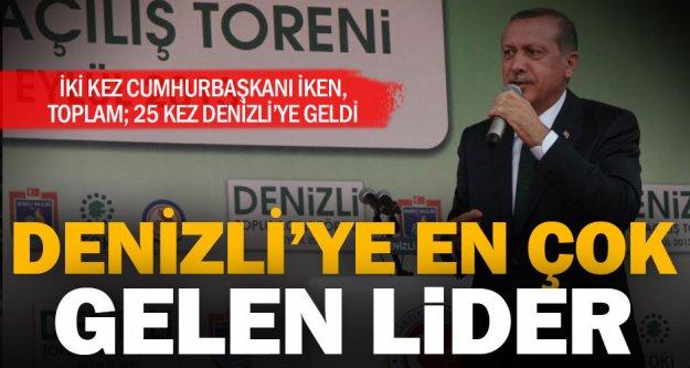 Denizli'ye en çok gelen lider: Erdoğan