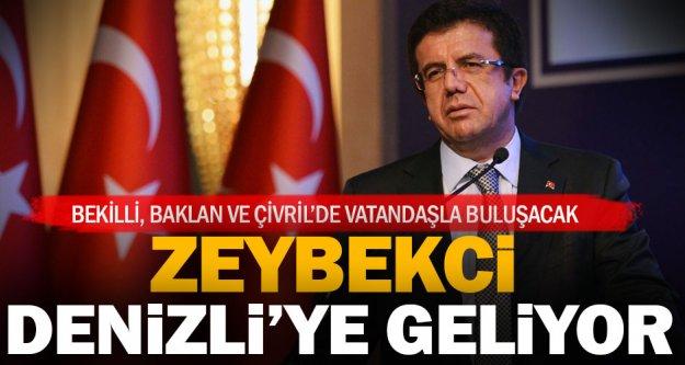 Ekonomi Bakanı Zeybekci, 'evet' için geliyor