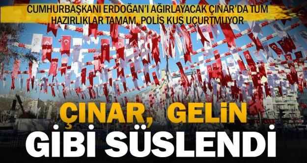 Erdoğan'ı bekleyen Çınar'ın son hali
