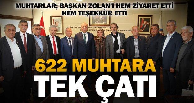 Muhtarlardan, Başkan Zolan'a ziyaret ve teşekkür