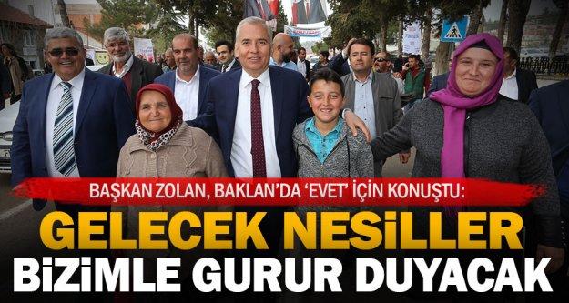 """Başkan Zolan: Geleceğimiz için 'evet"""""""