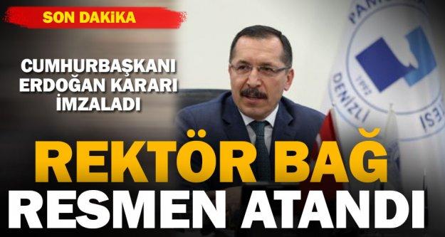 Cumhurbaşkanı Erdoğan, Prof. Bağ'ı rektör atadı